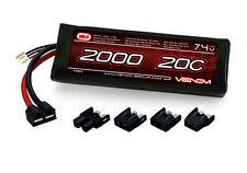 Venom 15023 LiPo 2S 7.4V 2000mAh 20C LIPO BATTERY 1/16 E-REVO / VXL
