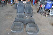 82-02 Firebird Trans Am Ebony Black Cloth Seats Front & Rear Hot Rod 93 97 98