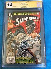 Superman #78 Regular Edition - DC - CGC SS 9.4 NM - Signed by Brett Breeding