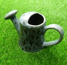 More details for churston pottery devon vintage green drip glaze watering can jug ornament