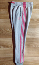 Adidas Originals 1972 Vintage Womens Tracksuit Pants Trousers Gray Joggers Pink