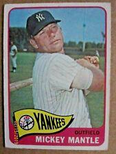 1965 TOPPS BASEBALL CARD #350 NEW YORK YANKEES MICKEY MANTLE