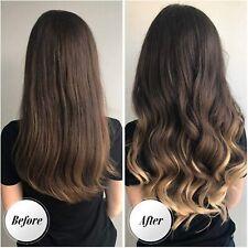 FESHFEN Extension Cheveux à Enfiler Easy Fit, Invisible Fil Monobande Naturel S