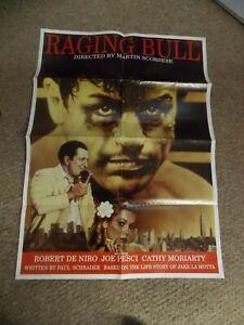 RAGING BULL(1980)ROBERT DeNIRO REPRODUCTION ONE SHEET POSTER NICE!
