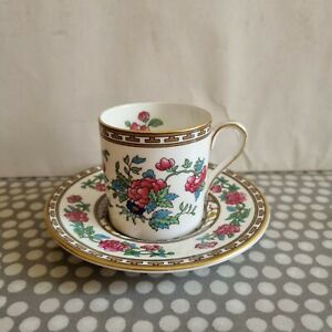 """Vintage Aynsley Fine Bone China """"Indian Tree"""" Coffee Can & Saucer"""