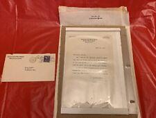John F. Kennedy - Signed Letter Pre Senator August 21, 1952 Jfk Autograph