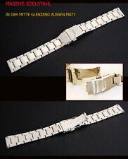 massiccio bracciale acciaio orologi 26 mm con fermaglio SICUREZZA