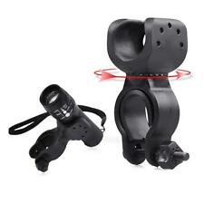 360°Rotation Torch Clip Mount Bicycle Bike Light Flashlight Holder Bracket Y5