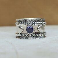 Amethyst Ring 925 Sterling Silver Spinner Ring Meditation Ring Statement B54