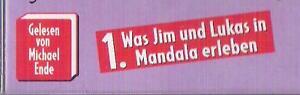 Jim Knopf und Lukas der Lokomotivführer 1 Mandala cd  ( Autorenlesung )