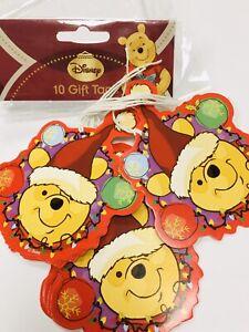 10 x Disney Winnie the Pooh Christmas GIFT TAG LABEL present