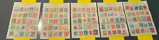 VintageStamp Approval Sheets (Lot of 5 sheets, 125 stamps) from around the world