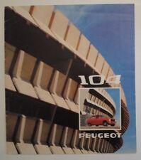 PEUGEOT 104 SALOON orig 1974 Potuguese Mkt Sales Brochure