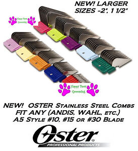 OSTER A5 STAINLESS STEEL Attachment GUIDE COMB*Fit #10,15 or 30 Clipper Blade