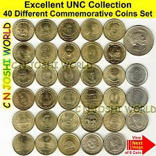 Very Rare 40 Different 5 Rupees+10 Rupees Commemorative 5+10 Rupees UNC Coin Set