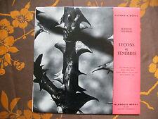 """LP FRANCOIS COUPERIN  """"Leçons De Ténèbres""""  Harmonia Mundi  DR 210"""
