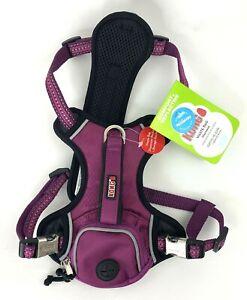 """Kong Waste Bag Harness Size Small Girth 16-22"""" Reflective Comfort Pink/Burgundy"""