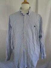 Brooks Brothers Button Front Shirt Mens Size XL Blue Striped Supima Cotton Lamb