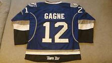 Simon Gagne SIGNED NHL Tampa Bay Lightning Jersey w/ Fight Strap NWOT Alt sz48