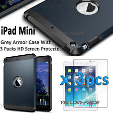 iPad mini Silicone Plastic Protective Dual Layer Shock Absorbing Kid-Proof Case