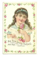 Antq Victorian Advertisement Trade Card Home Sewing Machine Union Square NYC