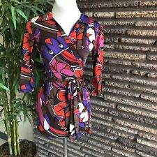 Vintage Psychedelic Wrap Tunic or Mini Dress