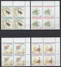 UAE 1999 ** Mi.609/12 Bl/4 Tiere Animals   Arthropoden Skorpion Libelle