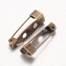 LOT de 20 SUPPORTS BROCHES bronze FIMO 20x5mm 2 trous création bijoux