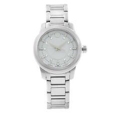 Movado Collection White Dial Steel Ceramic Quartz Ladies Watch 0606943