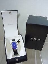 Ladies Stainless Steel Movado Zeinth Lapis Lazuli Dial Curvex Fashion Watch