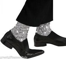 MICHAEL JACKSON SPARKLE SOCKS CHILD Sock Covers Kids Sequin Costume Pop Star NEW