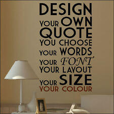 EXTRA LARGE CREATE YOUR OWN CUSTOM WALL QUOTE DESIGN STICKER TRANSFER DECAL
