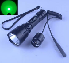 Ultra Fire C8 CREE Green Light LED Single Mode Hunting Flashlight + RAT TAIL