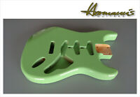Stratocaster Erle Body, Alder Body, Finish High Gloss Surf Green
