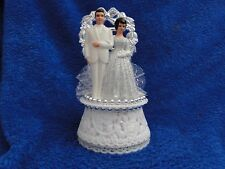 New 25th Wedding Anniversary Couple Caketopper with Bride & Groom in Silver