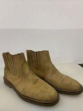 ORVIS Tan Leather Slip-on Chukka Boots ~ Mens Sz 12 , Made in BRAZIL ,  Vibram