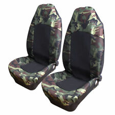 2PCS Universal Car SUV Van  Camouflage Camo Front High Back Seat Cover Protector