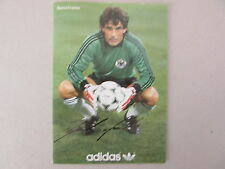 "seltene ""ADIDAS "" - Werbekarte  >> BERND FRANKE  DFB NATIONALTRIKOT WM 1982"