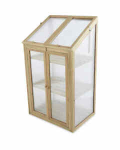 Small Natural Wooden Greenhouse - Adjustable Windows & Doors - BRAND NEW
