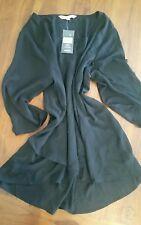 Avella black sheer top plus size sz26 post D37