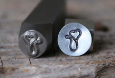 Stethoscope Metal Stamp-Design Stamp-Measures 8mm-Metal Supply Chick-dch80