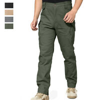 Men's Tactical Combat Pants Outdoor Hiking Army Training Ripstop Cargo Trousers