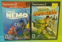 Disney Nemo + Shrek Super Slam - PS2 Playstation 2 Game Lot Works Complete
