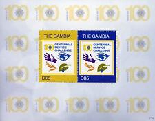 Gambia 2017 MNH Lions Club International 100th Anniv 2v S/S Stamps