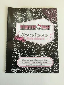 MONSTER HIGH DIARY ACCESSORY FOR DRACULAURA 1ST WAVE - FREE POST