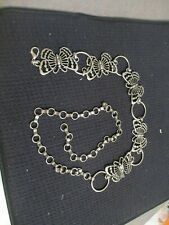 Unbranded Cast iron silver colored butterfly themed chain melt 46