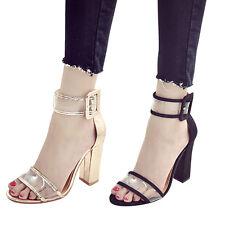 Neu Mode Charmaine Damen Transparent Stilettos High Heels  Sandalen