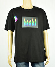 TRILLION WATTS Mens Black Equalizer Graphic Tee T-Shirt XL