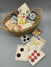 Lot Vintage Sewing Buttons And Rick rack. Colorful Mix Of Shapes Over a pound!