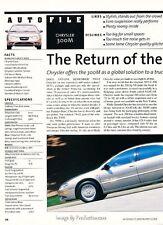 1999 Chrysler 300M Original Car Review Print Article J596